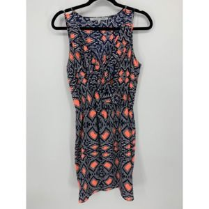 Collective concepts Navy white coral dress M